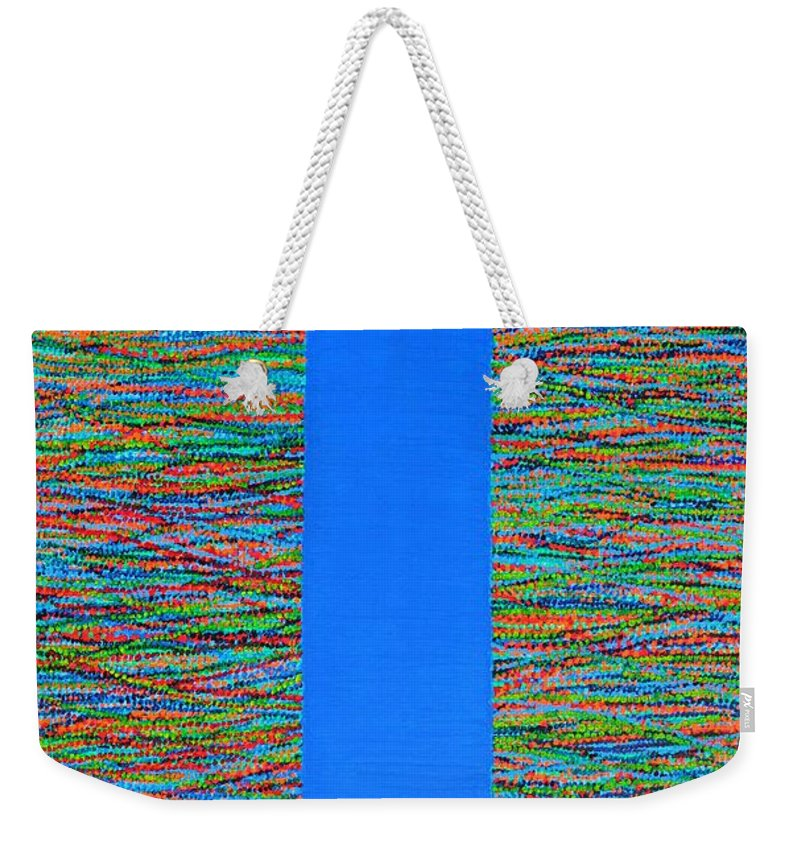 Contemporary Weekender Tote Bag featuring the painting Small Door by Kyung Hee Hogg