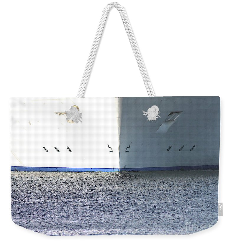 Ship Weekender Tote Bag featuring the photograph Smooth Sailing by Carol Groenen