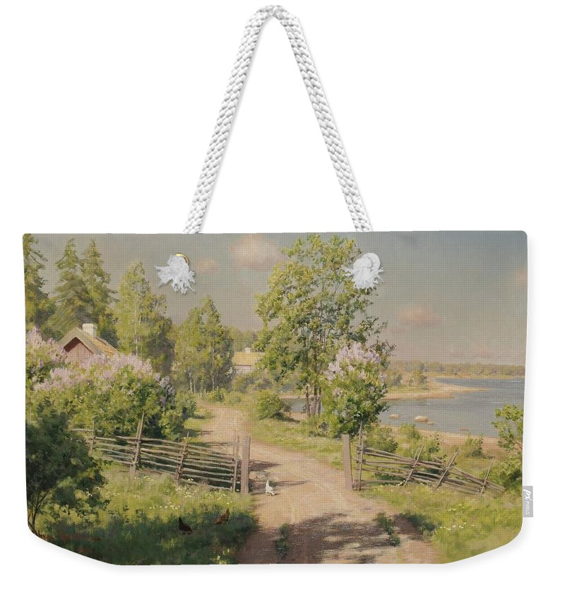 Johan KrouthÉn Weekender Tote Bag featuring the painting Sommaridyll by MotionAge Designs