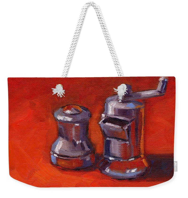 Still Weekender Tote Bag featuring the painting Soul Mates by Konnie Kim