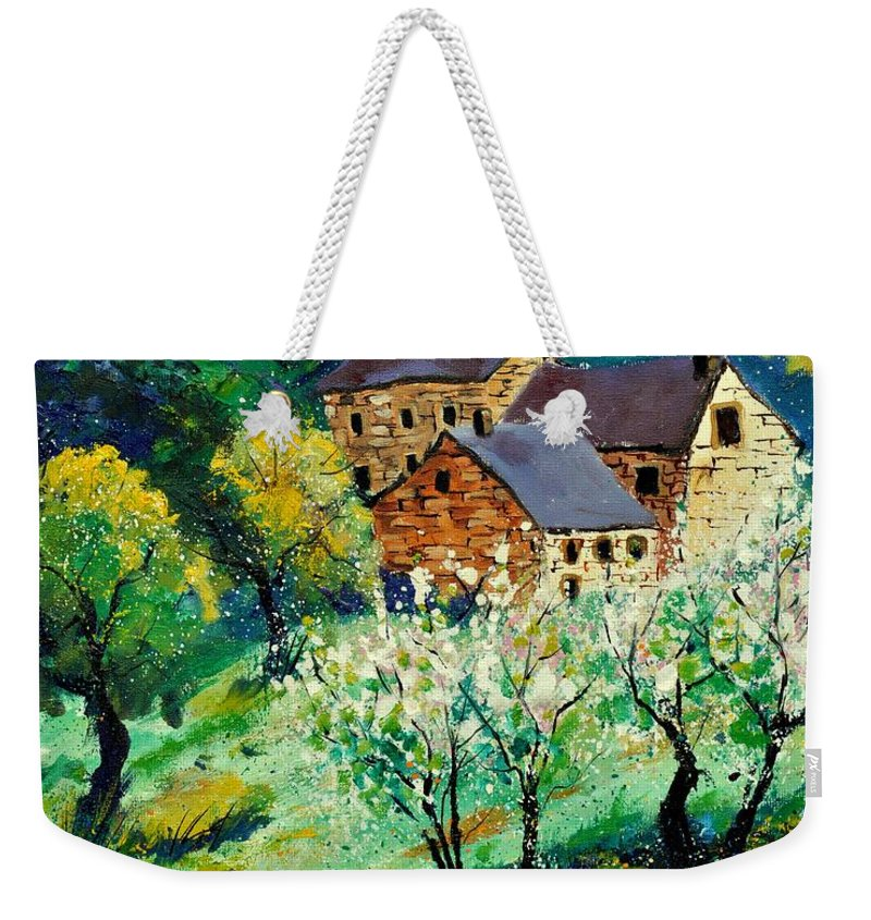 Landscape Weekender Tote Bag featuring the painting Spring 560140 by Pol Ledent