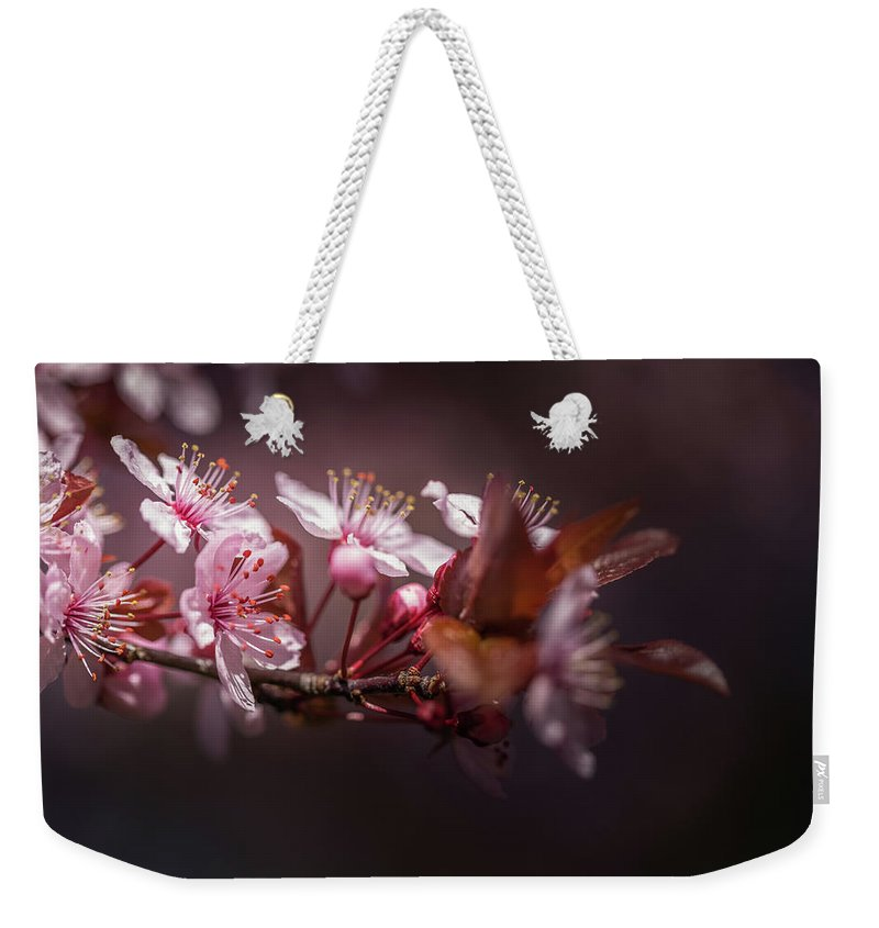 Plum Weekender Tote Bag featuring the photograph Spring Beauty- 2 by Calazone's Flics