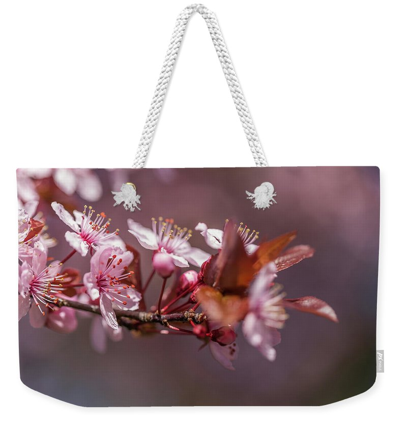 Plum Weekender Tote Bag featuring the photograph Spring Beauty by Calazone's Flics