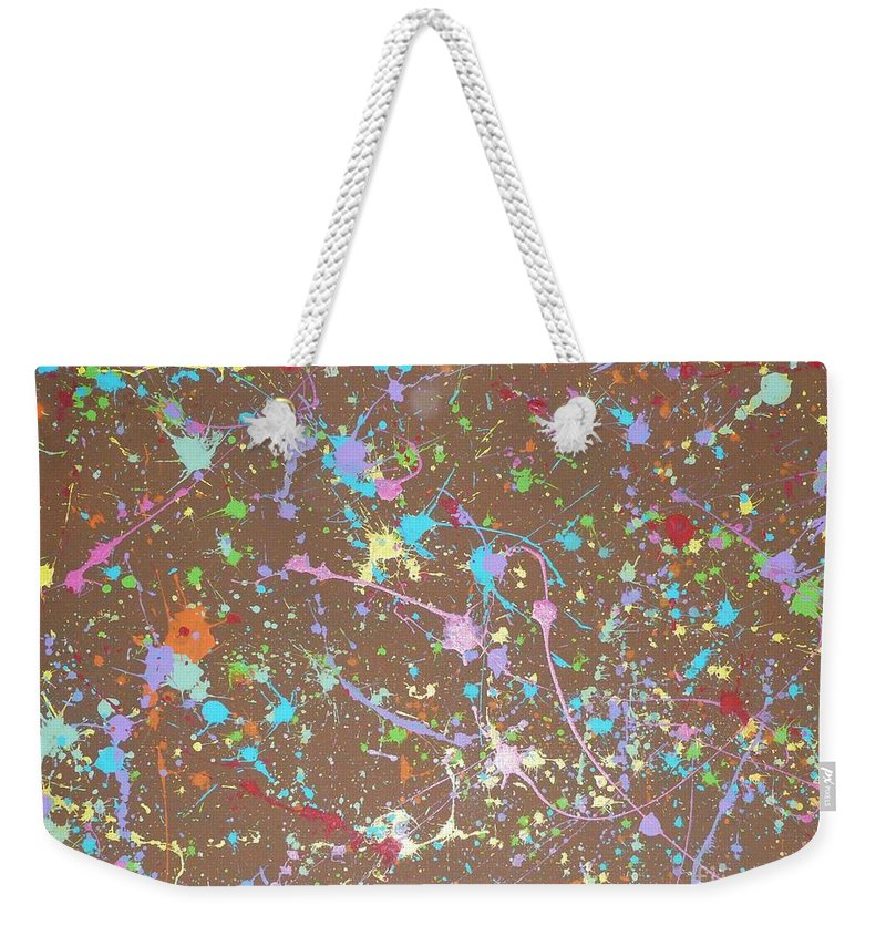 Abstract Weekender Tote Bag featuring the painting Spring Has Sprung by Barb Montanye Meseroll