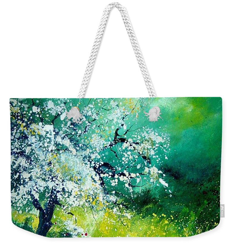 Flowers Weekender Tote Bag featuring the painting Spring by Pol Ledent