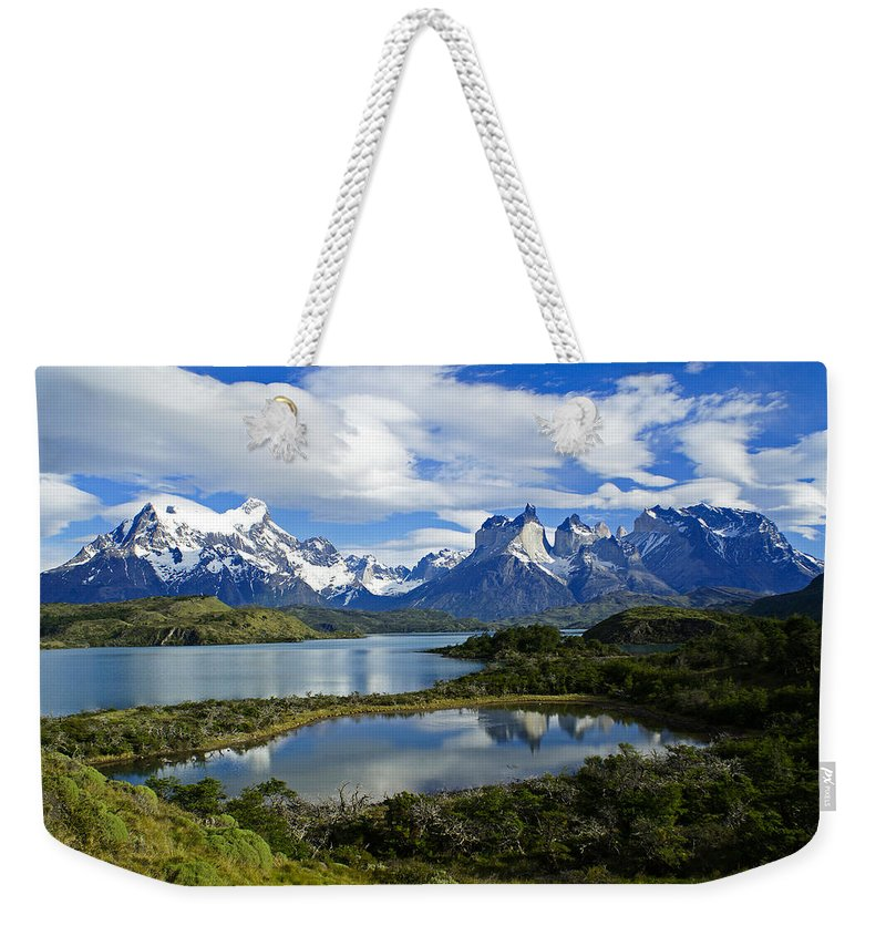 Patagonia Weekender Tote Bag featuring the photograph Springtime In Patagonia by Michele Burgess