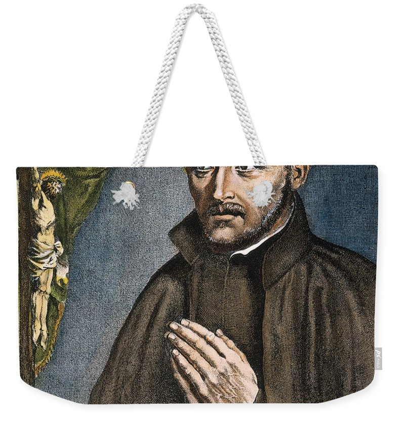 16th Century Weekender Tote Bag featuring the photograph St. Ignatius Of Loyola by Granger