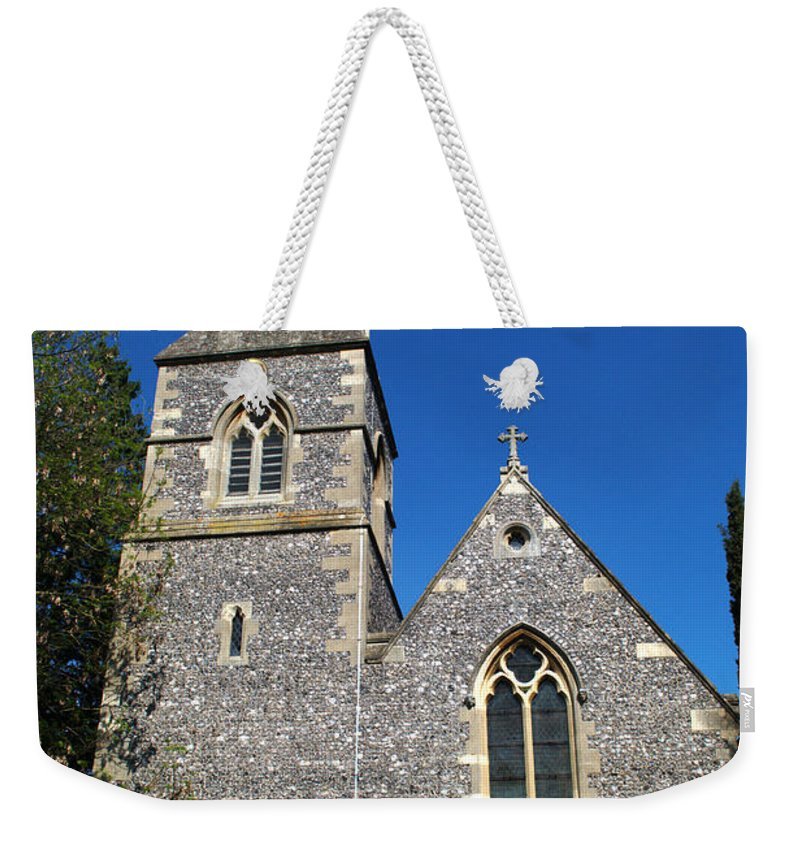 St Weekender Tote Bag featuring the photograph St Peters Marlow by Chris Day