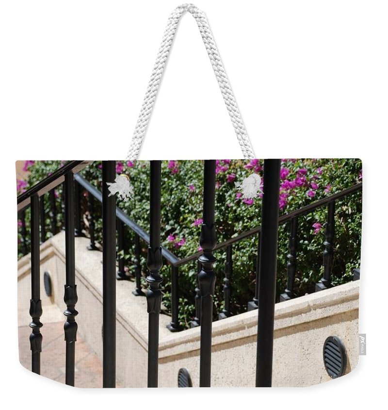 Stairs Weekender Tote Bag featuring the photograph Stairs And Rails by Rob Hans