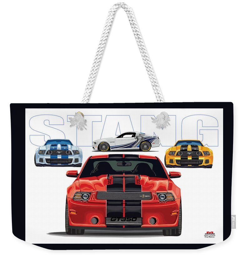 Weekender Tote Bag featuring the digital art Stang 2 by DARRYL McPHERSON