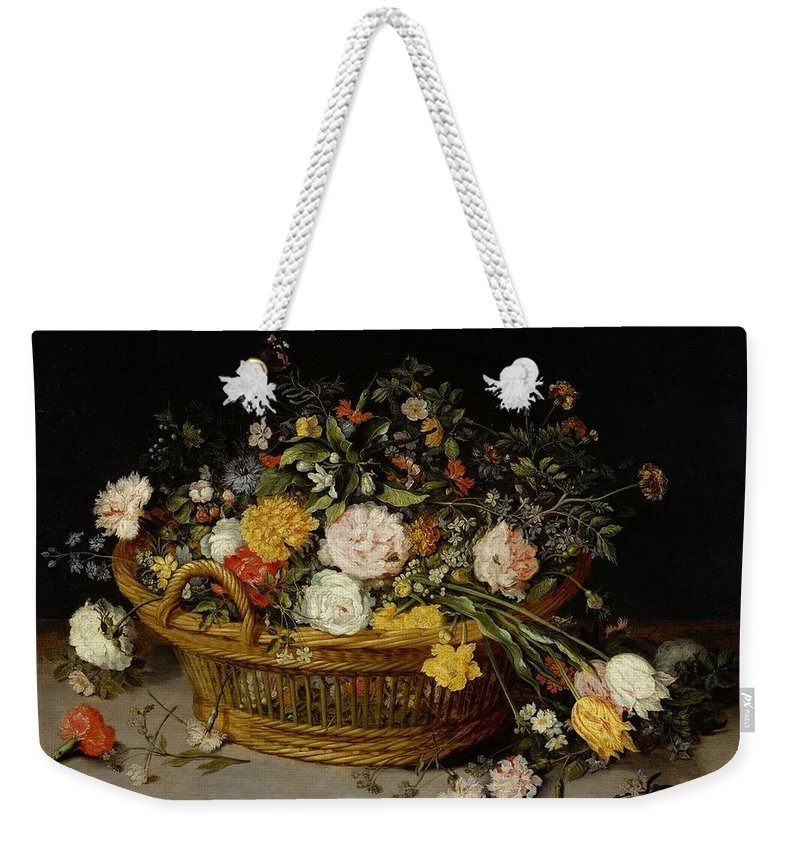 Jan Brueghel The Younger (1601�1678) Weekender Tote Bag featuring the painting Still Life by Jan Brueghel