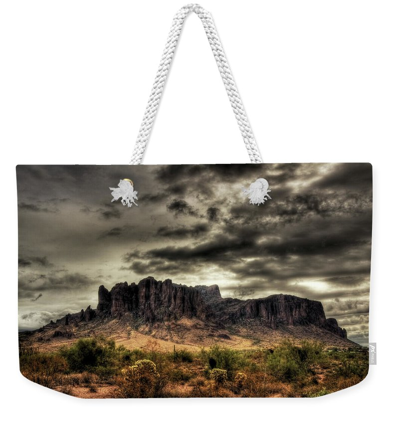 Arizona Weekender Tote Bag featuring the photograph Stormy Morning by Saija Lehtonen