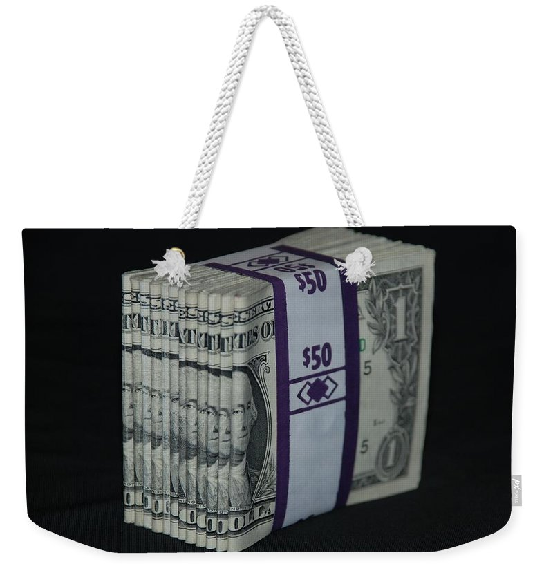 Money Weekender Tote Bag featuring the photograph Stripper Stack by Rob Hans