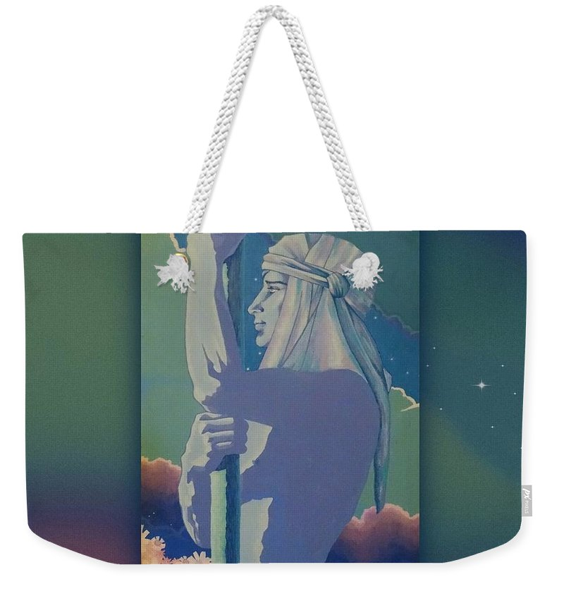 Strength Weekender Tote Bag featuring the mixed media Strong And Gentle by Richard Laeton
