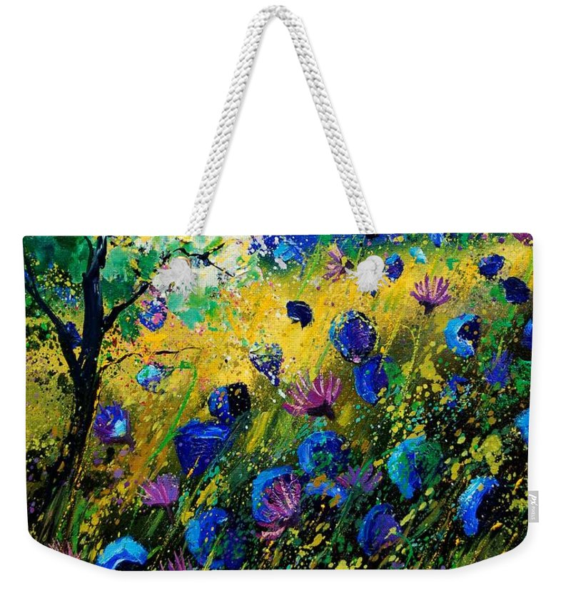 Poppies Weekender Tote Bag featuring the painting Summer 450208 by Pol Ledent