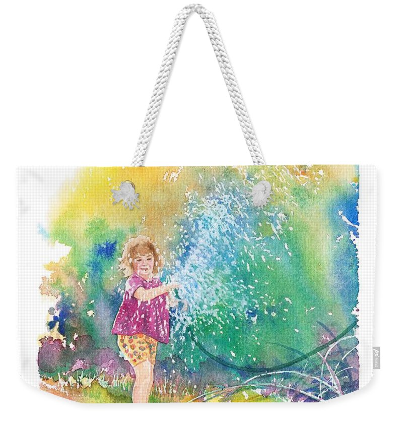 Children Weekender Tote Bag featuring the painting Summer Fun by Gale Cochran-Smith