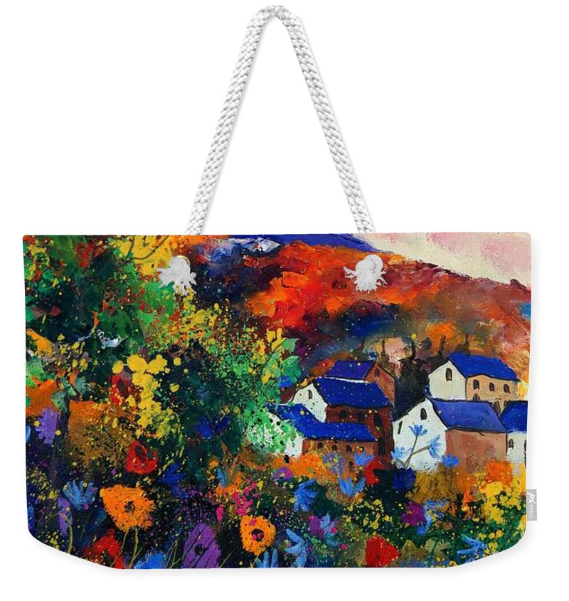 Landscape Weekender Tote Bag featuring the painting Summer by Pol Ledent