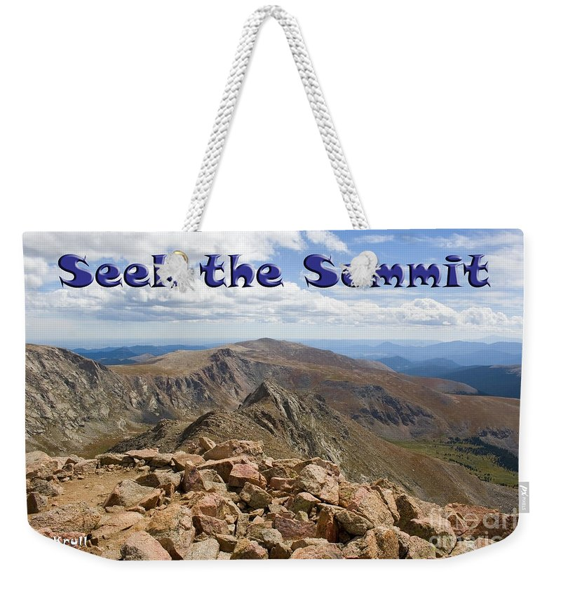 Summit Weekender Tote Bag featuring the photograph Summit Of Mount Bierstadt In The Arapahoe National Forest by Steve Krull