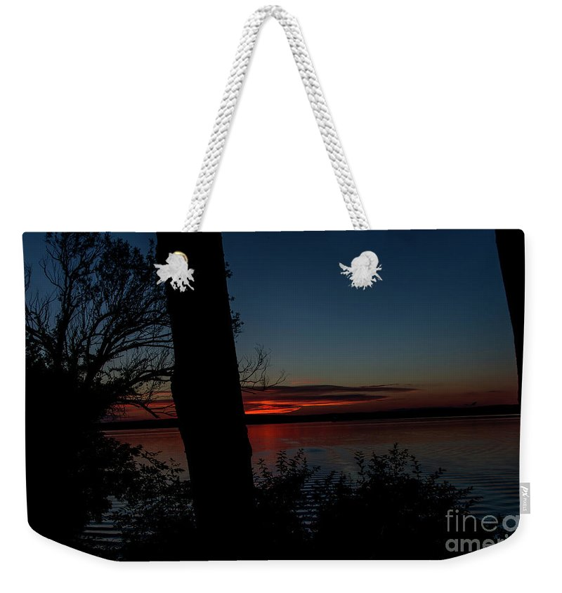 Sunset Weekender Tote Bag featuring the photograph Sundown by Deborah Klubertanz