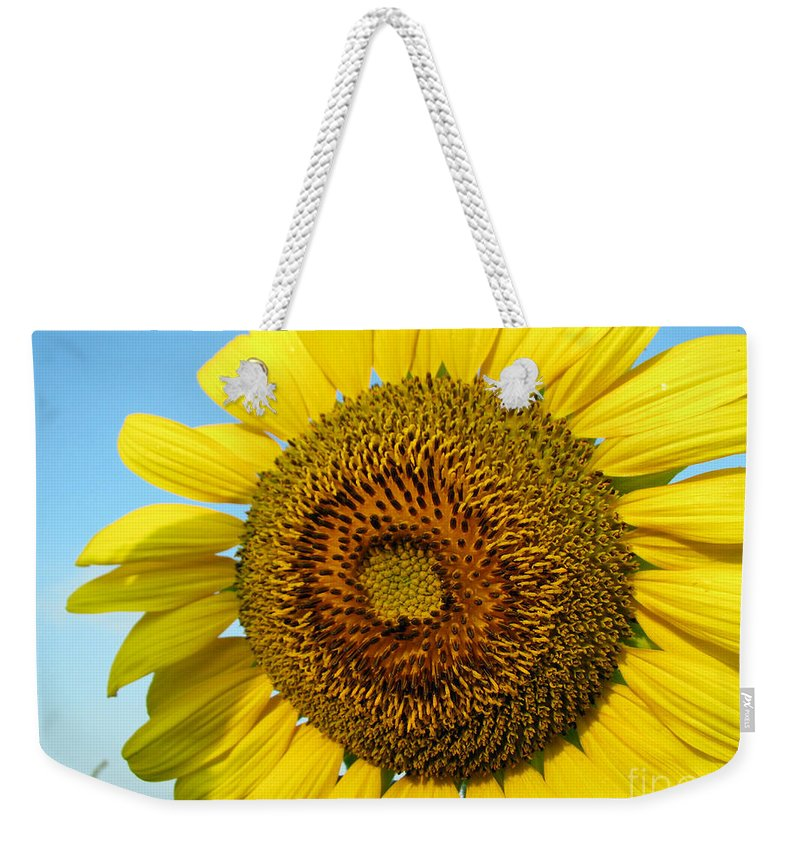 Sunflower Weekender Tote Bag featuring the photograph Sunflower Series by Amanda Barcon
