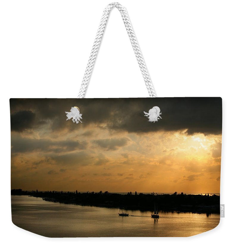 Photograph Weekender Tote Bag featuring the photograph Sunset At Pass A Grille Florida by Mal Bray