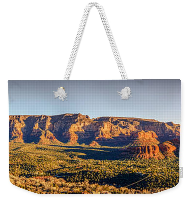 America Weekender Tote Bag featuring the photograph Sunset In Sedona by Alexey Stiop