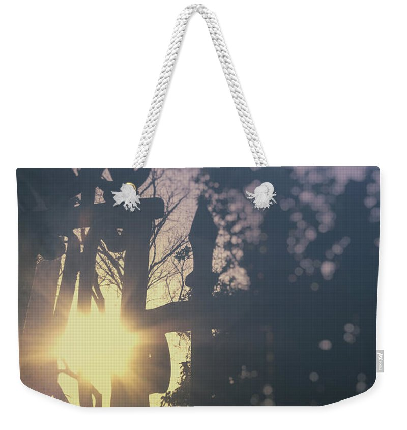 Old Weekender Tote Bag featuring the photograph Sunshine by Margie Hurwich