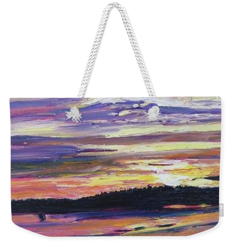 Sunset Weekender Tote Bag featuring the painting Sunset by Richard Nowak