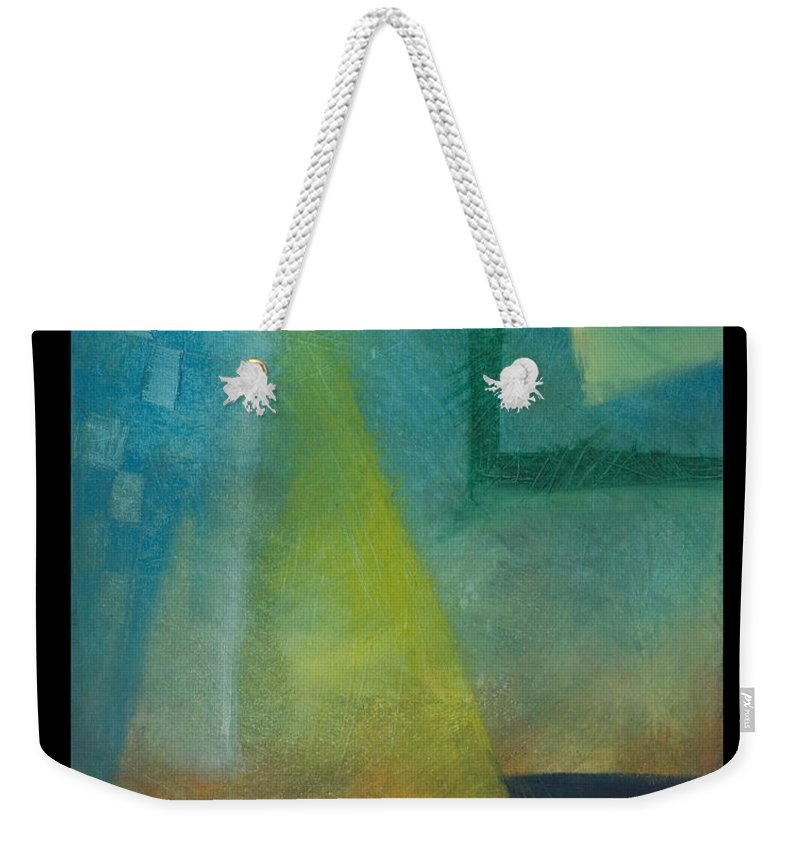 Sunset Weekender Tote Bag featuring the painting Sunset Sail by Tim Nyberg