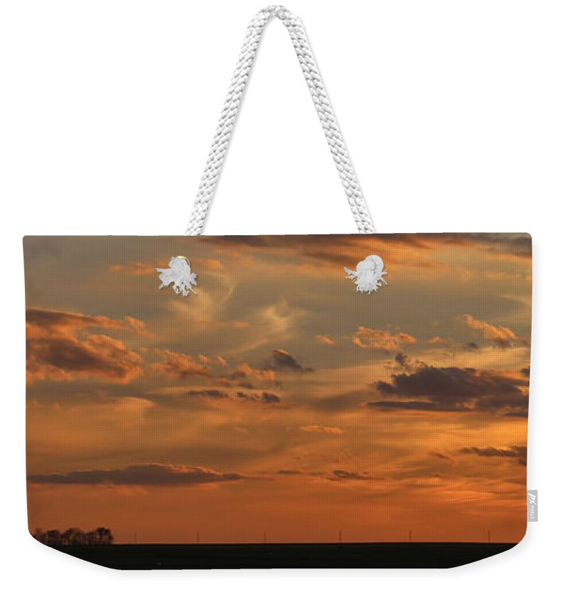 Theresa Campbell Weekender Tote Bag featuring the photograph Sunset Strip II by Theresa Campbell