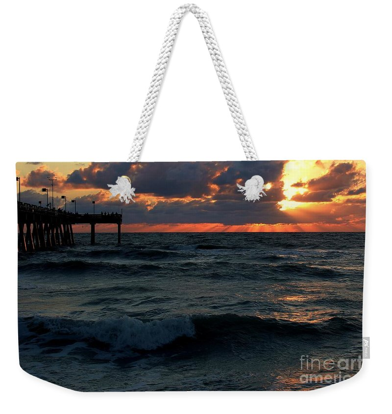 Photo For Sale Weekender Tote Bag featuring the photograph Sunset Wave by Robert Wilder Jr