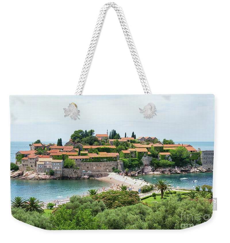 Travel Weekender Tote Bag featuring the photograph Sveti Stefan, Montenegro by Ruth Hofshi