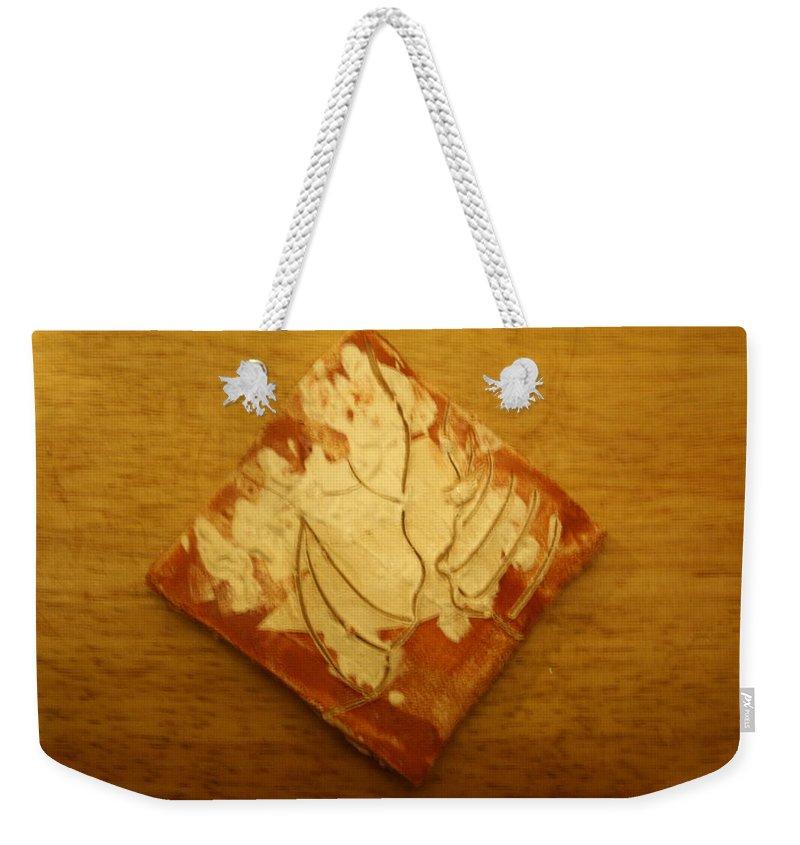 Jesus Weekender Tote Bag featuring the ceramic art Sweet Dreams - Tile by Gloria Ssali