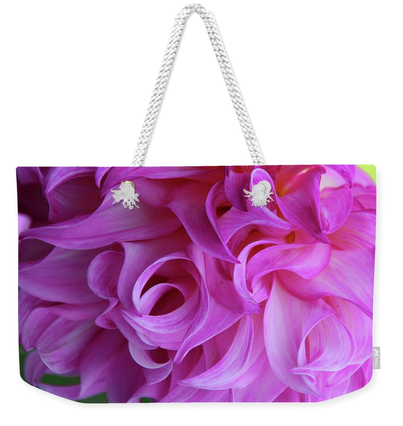 Macro Weekender Tote Bag featuring the photograph Swirls Of Romance by Michiale Schneider