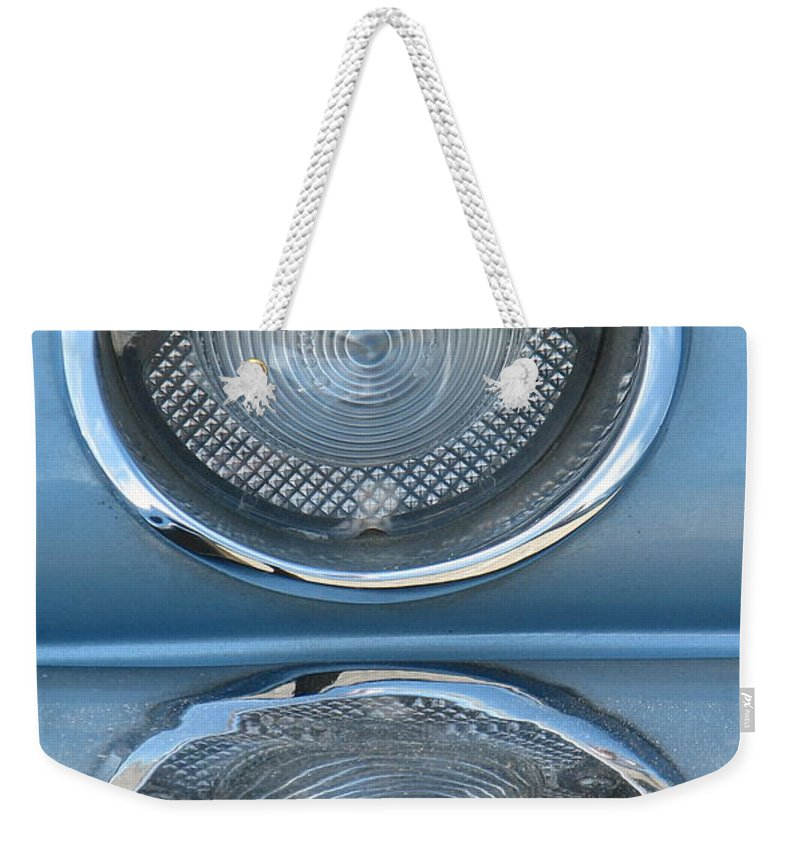 Corvette Weekender Tote Bag featuring the photograph Taillight Reflections by Kelly Mezzapelle