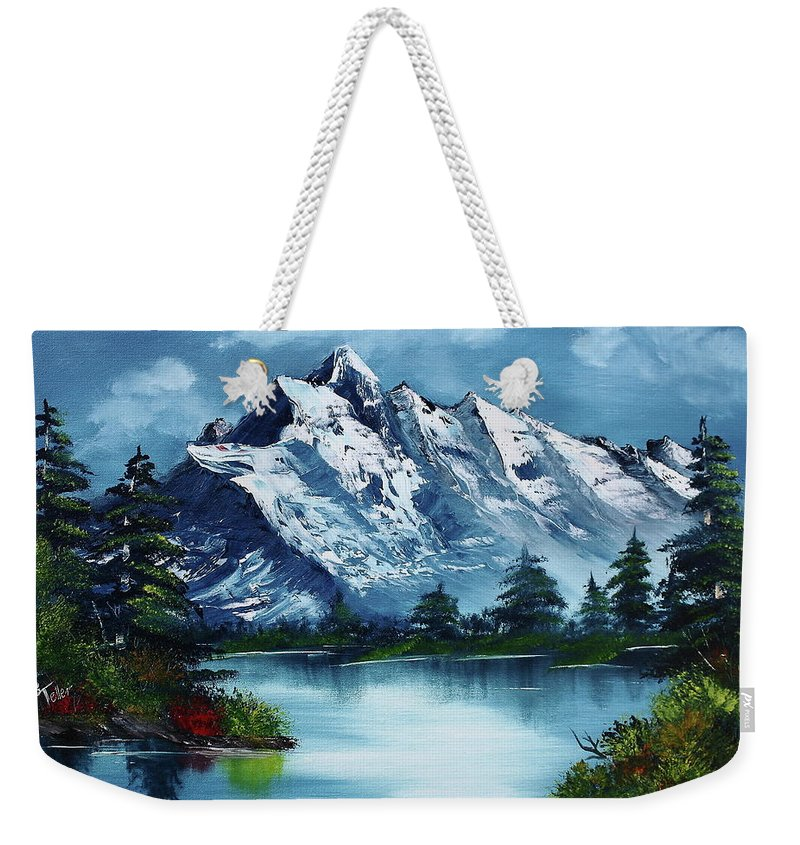 Bob Ross Paintings Weekender Tote Bags