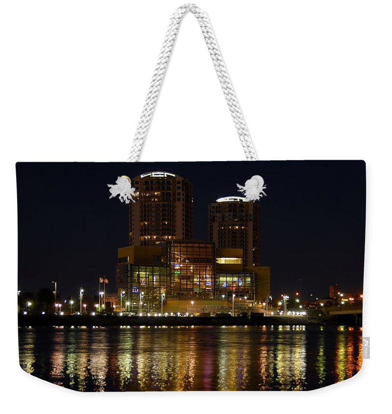 Tampa Bay History Center Weekender Tote Bag featuring the photograph Tampa Bay History Center by David Lee Thompson