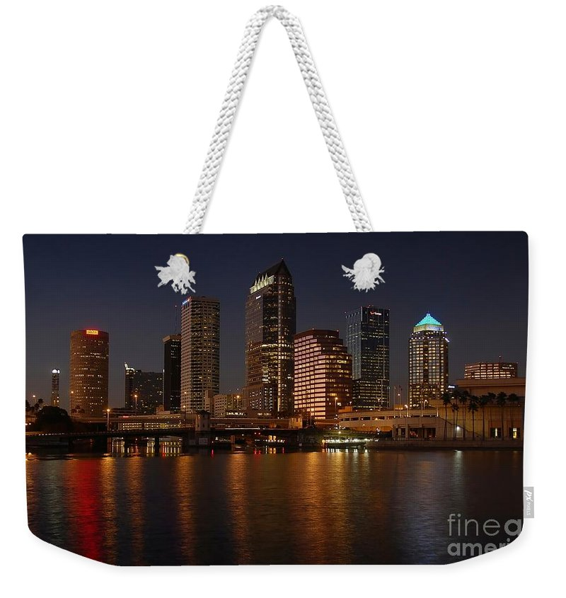 Tampa Weekender Tote Bag featuring the photograph Tampa Florida by David Lee Thompson