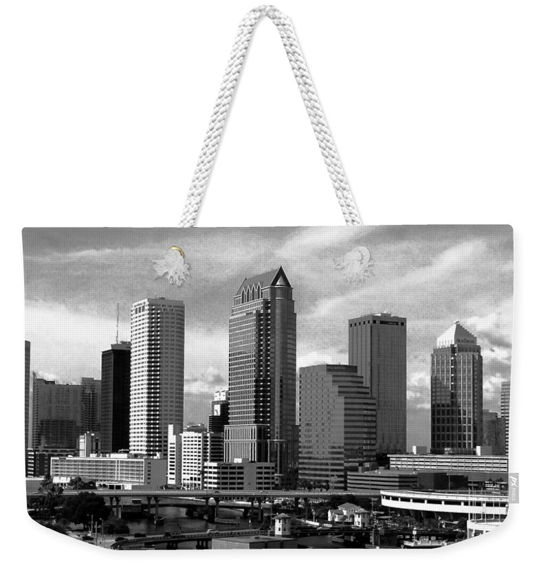Downtown Tampa Florida Weekender Tote Bag featuring the photograph Tampa The Downtown by David Lee Thompson