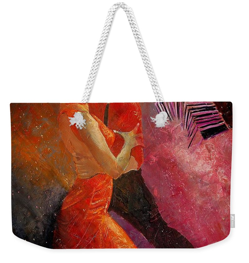 Tango Weekender Tote Bag featuring the painting Tango by Pol Ledent