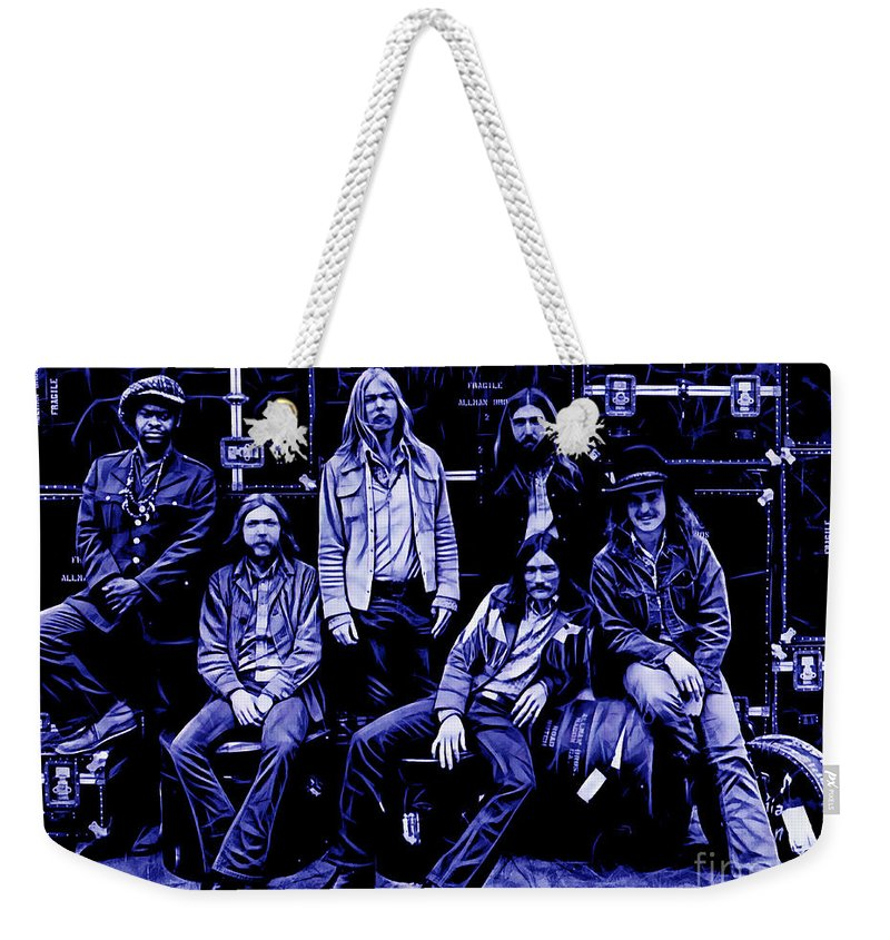 The Allman Brothers Weekender Tote Bag featuring the mixed media The Allman Brothers Collection by Marvin Blaine