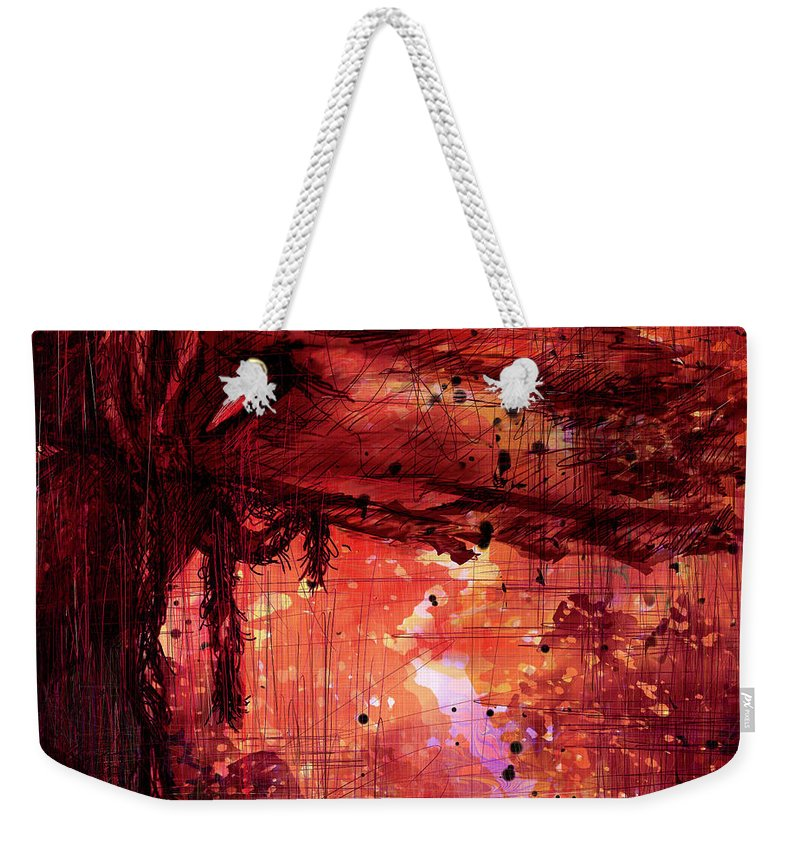 Abstract Weekender Tote Bag featuring the digital art The Beloved by Rachel Christine Nowicki