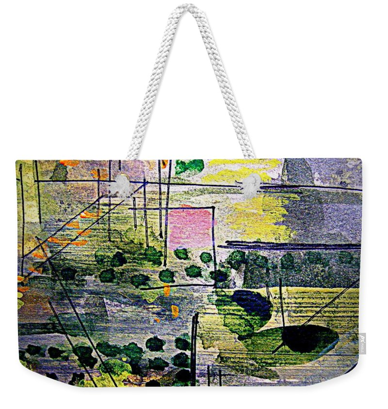 Weekender Tote Bag featuring the painting The City 2 by Nancy Kane Chapman