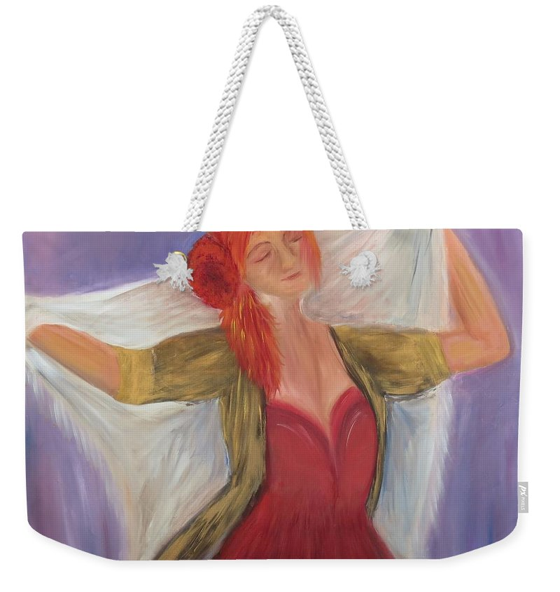 Dance Weekender Tote Bag featuring the painting The Dancer by Taly Bar