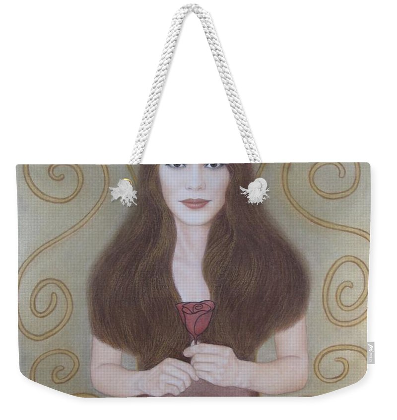 Dream Weekender Tote Bag featuring the painting The Dream by Lynet McDonald