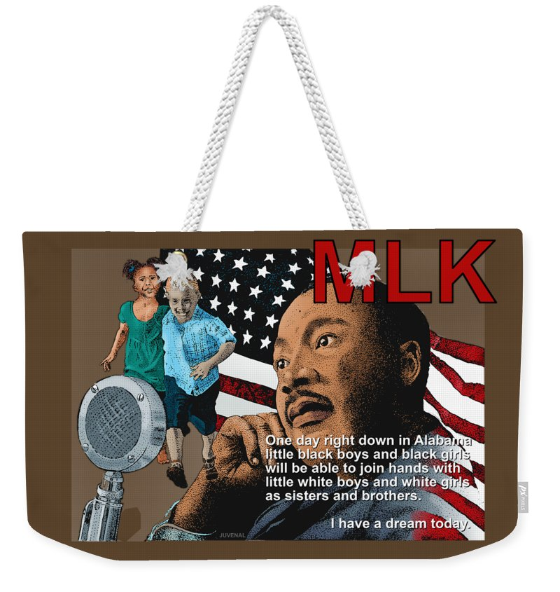 Canvas Prints Weekender Tote Bag featuring the drawing The Dream Speech by Joseph Juvenal