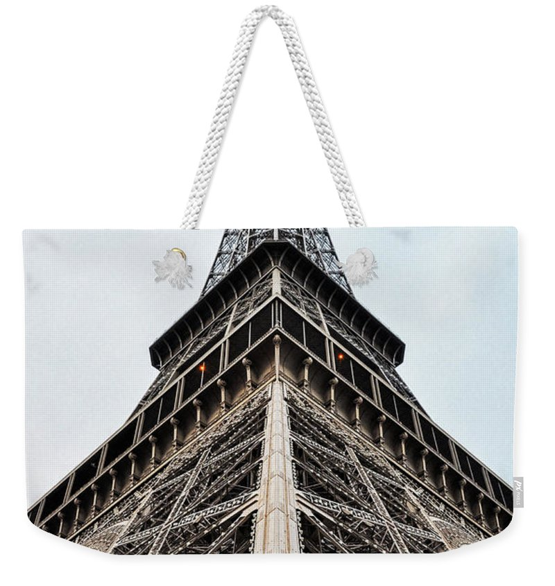 Tower Weekender Tote Bag featuring the photograph The Eiffel Tower In Paris by Dutourdumonde Photography