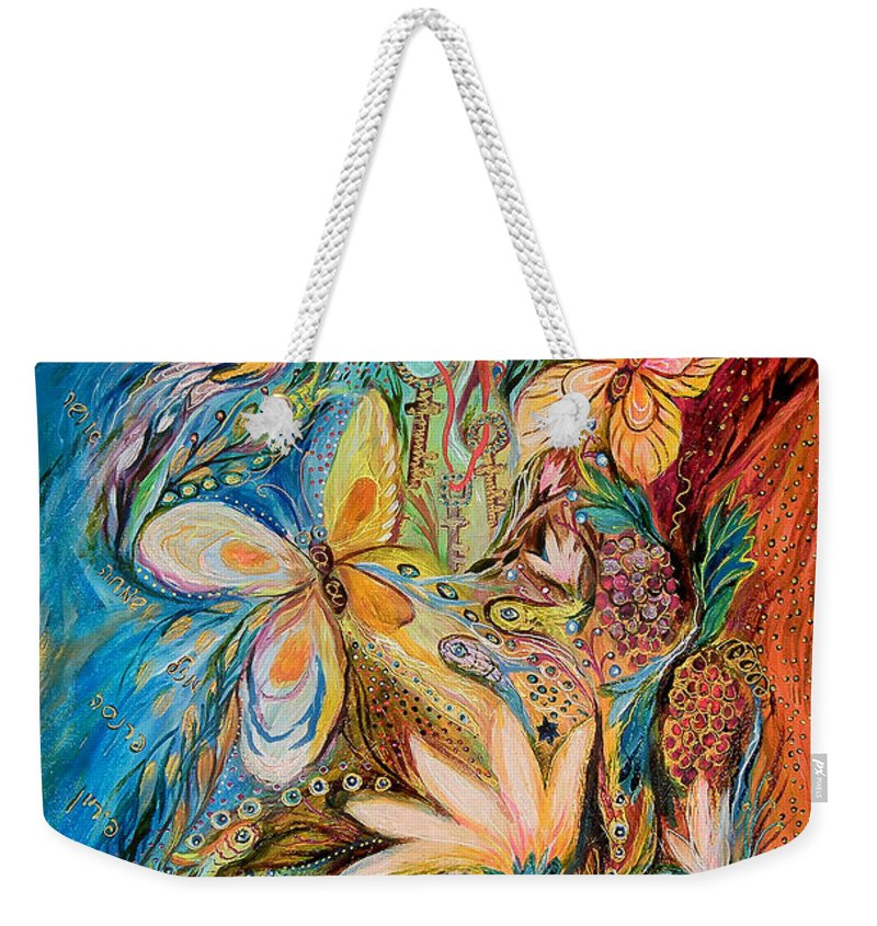 Original Weekender Tote Bag featuring the painting The Flowers And The Fruits by Elena Kotliarker