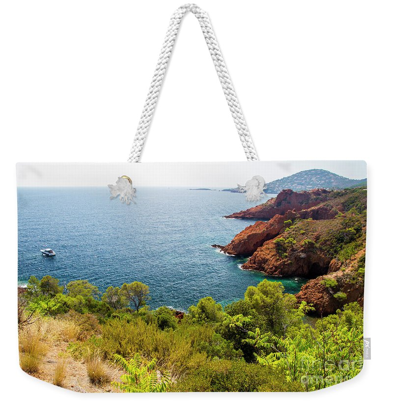 French Riviera Weekender Tote Bag featuring the photograph The French Riviera by Ohad Shahar