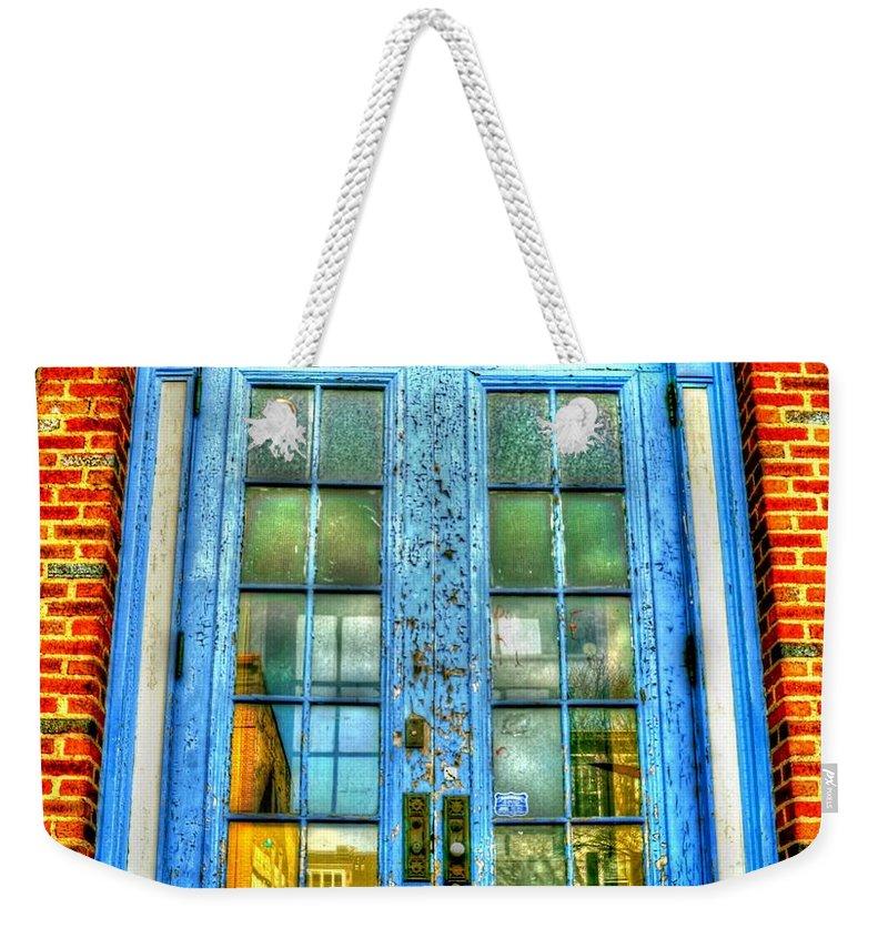 Door Weekender Tote Bag featuring the photograph The Girl Next Door by Debbi Granruth
